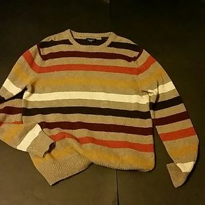 Haggard Cotton and Lambs Wool Striped Sweater. M